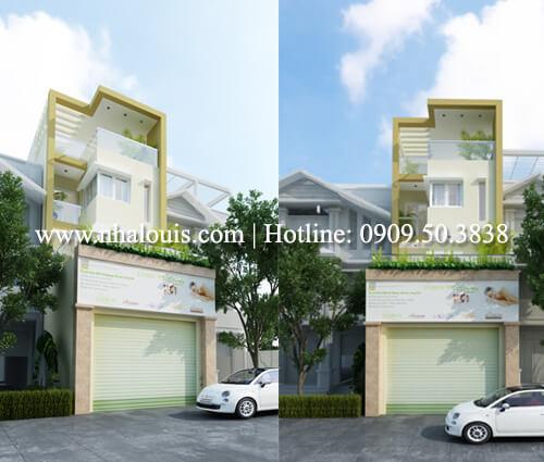 Thiết kế nhà ở kết hợp kinh doanh với master sang chảnh quận 8