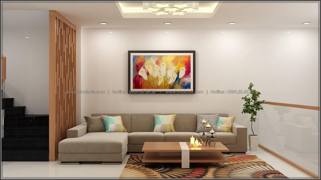Phòng khách Thiết kế nhà ở kết hợp kinh doanh với master sang chảnh quận 8 - 5