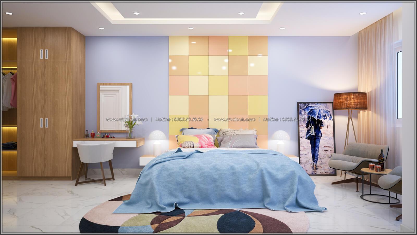 Phòng ngủ Thiết kế nhà ở kết hợp kinh doanh với master sang chảnh quận 8 - 9