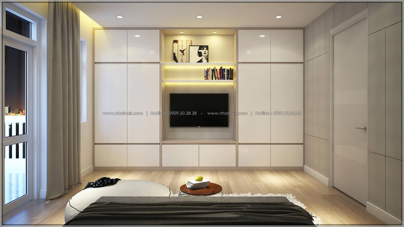 Phòng ngủ Thiết kế nhà phố kiểu Pháp với mặt tiền 6m hoành tráng tại Bình Tân - 13