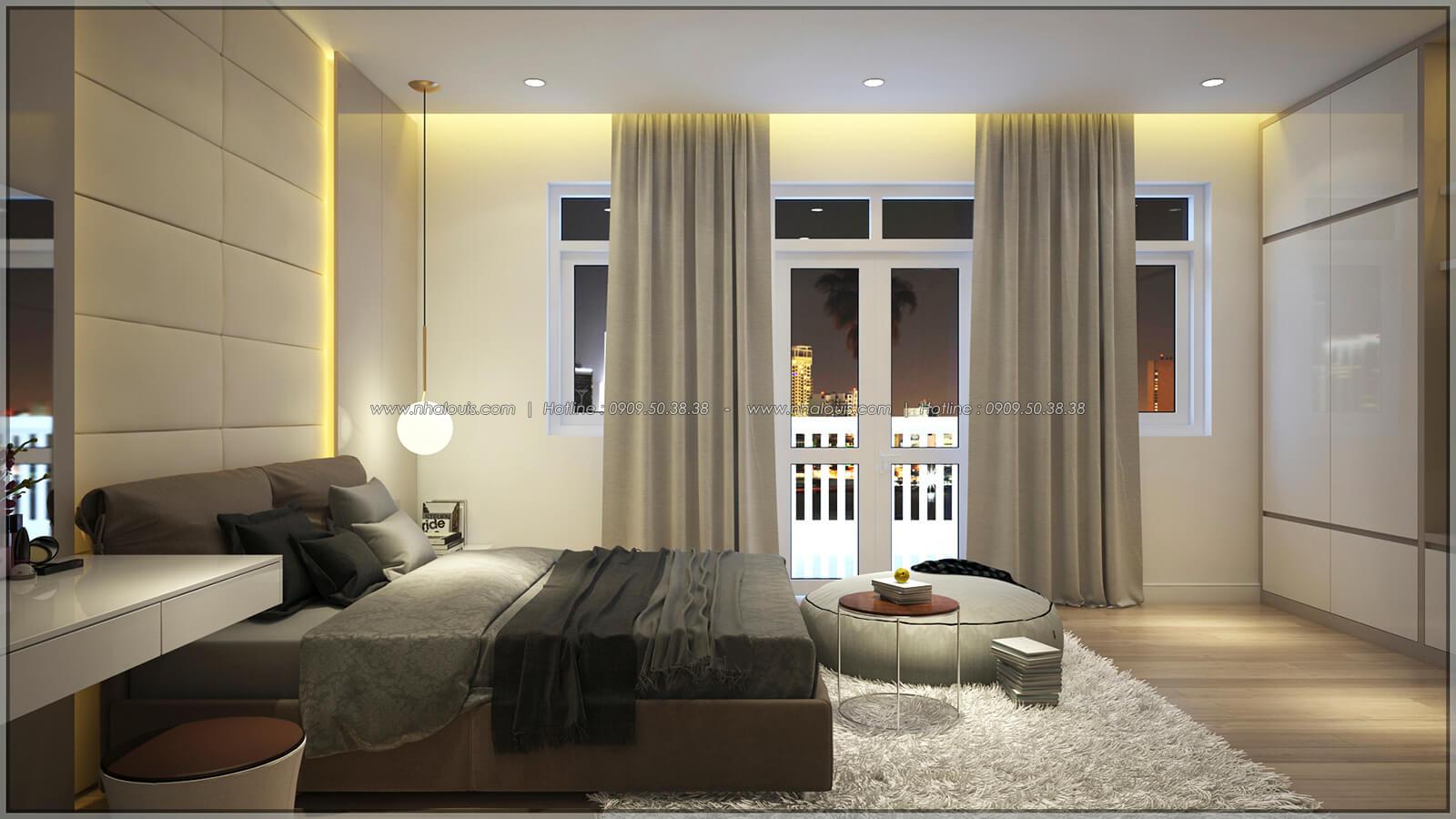 Phòng ngủ Thiết kế nhà phố kiểu Pháp với mặt tiền 6m hoành tráng tại Bình Tân - 14