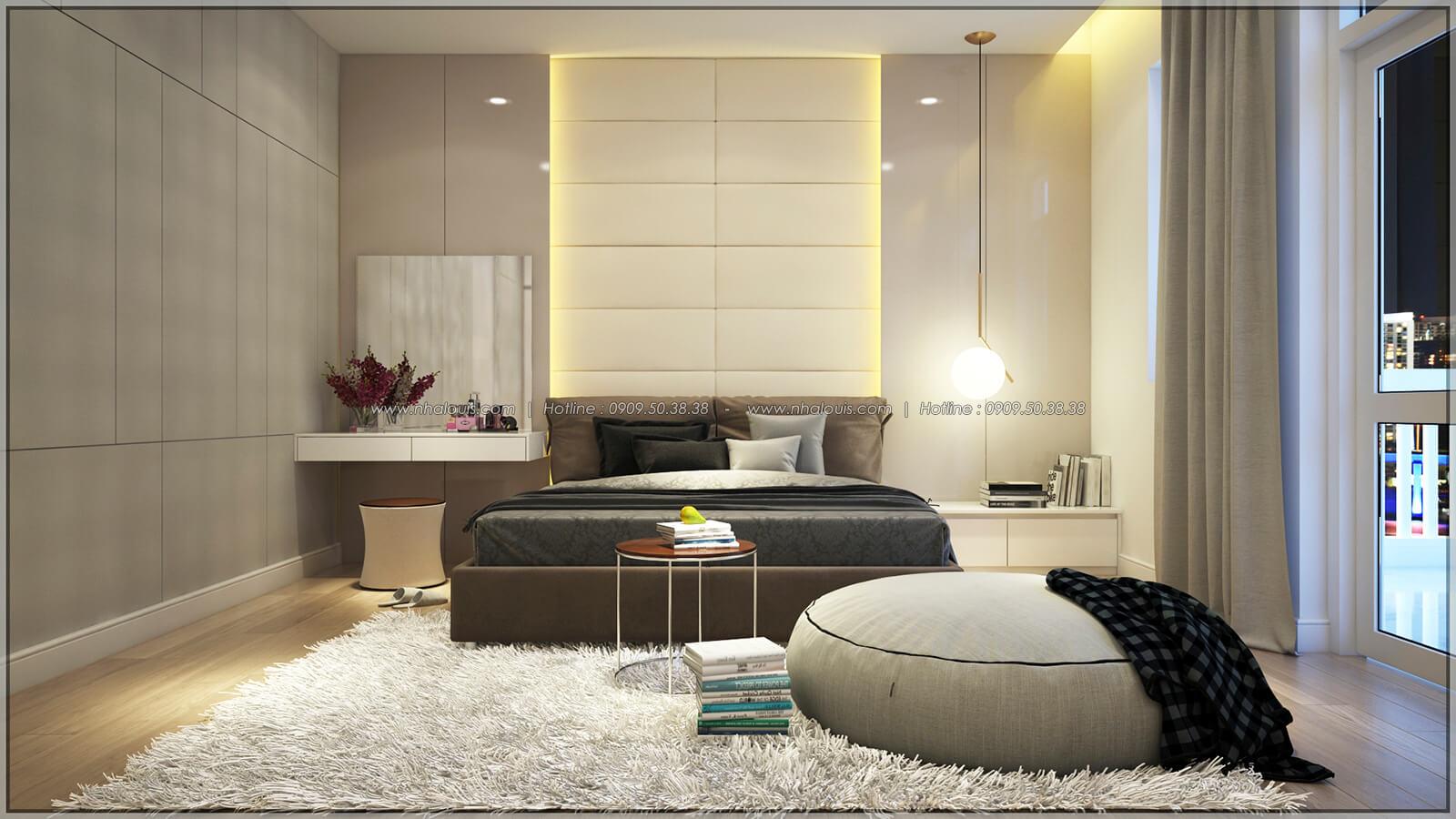 Phòng ngủ Thiết kế nhà phố kiểu Pháp với mặt tiền 6m hoành tráng tại Bình Tân - 15