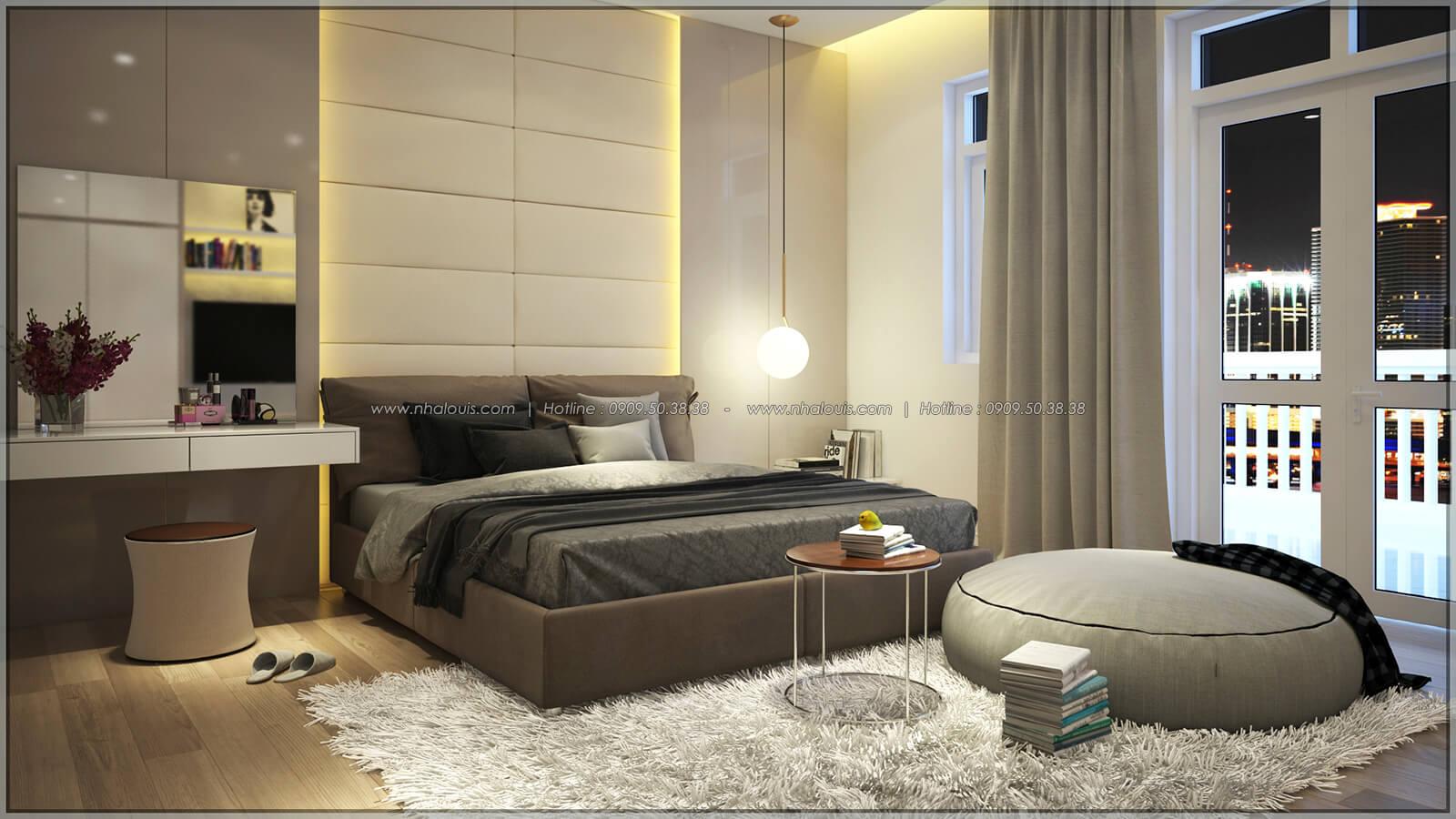 Phòng ngủ Thiết kế nhà phố kiểu Pháp với mặt tiền 6m hoành tráng tại Bình Tân - 16