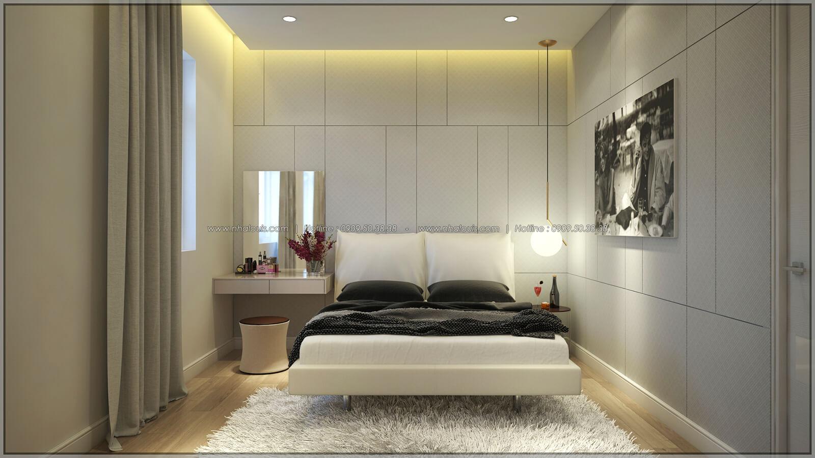 Phòng ngủ Thiết kế nhà phố kiểu Pháp với mặt tiền 6m hoành tráng tại Bình Tân - 17