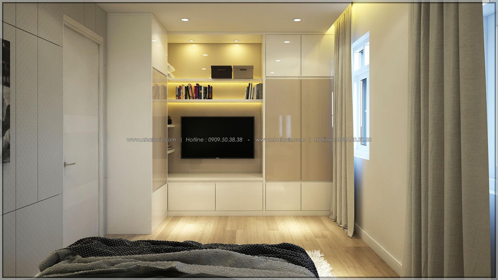 Phòng ngủ Thiết kế nhà phố kiểu Pháp với mặt tiền 6m hoành tráng tại Bình Tân - 18