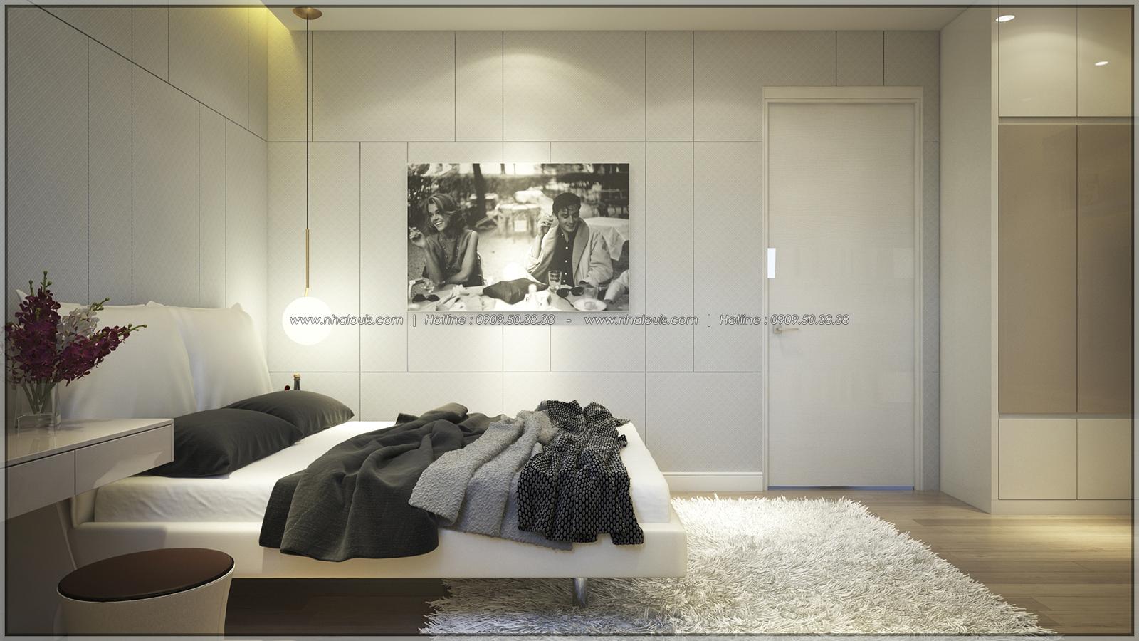 Phòng ngủ Thiết kế nhà phố kiểu Pháp với mặt tiền 6m hoành tráng tại Bình Tân - 19