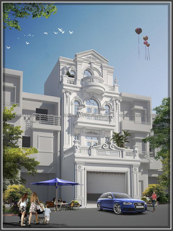 Thiết kế nhà phố kiểu Pháp với mặt tiền 6m hoành tráng tại Bình Tân - 2