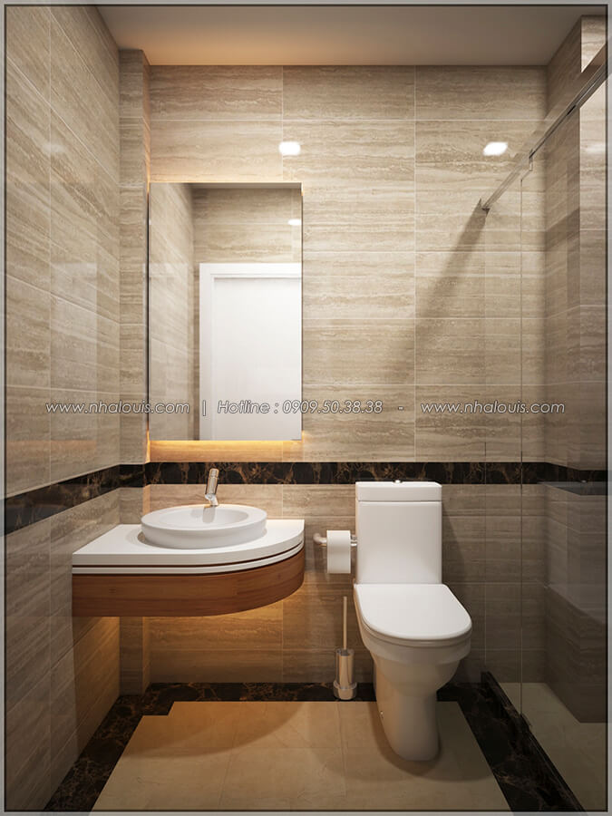 Phòng tắm và WC Thiết kế nhà phố kiểu Pháp với mặt tiền 6m hoành tráng tại Bình Tân - 20