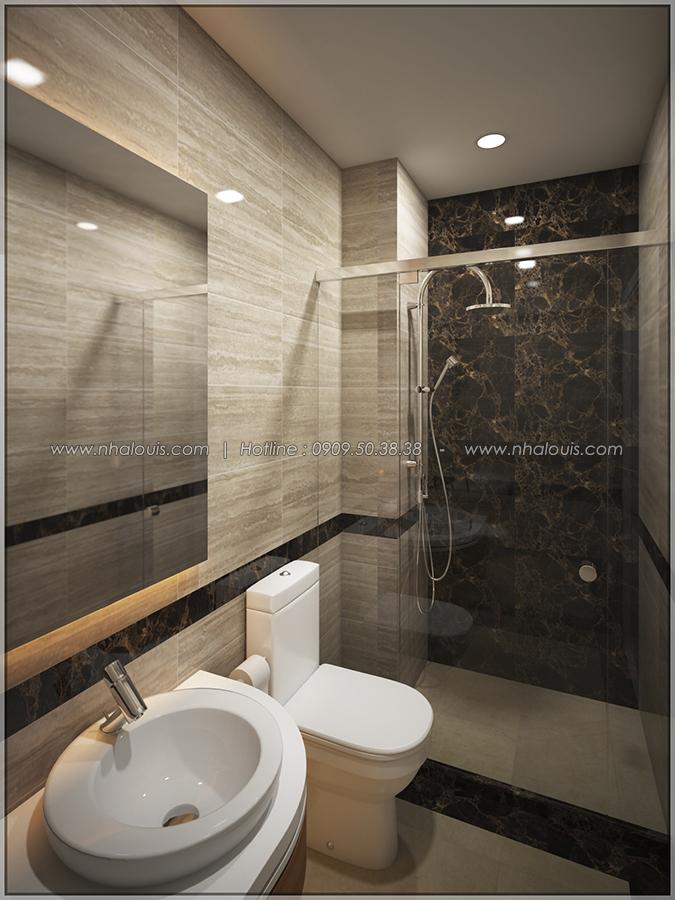 Phòng tắm và WC Thiết kế nhà phố kiểu Pháp với mặt tiền 6m hoành tráng tại Bình Tân - 21