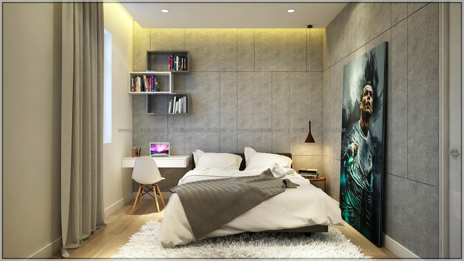 Phòng ngủ Thiết kế nhà phố kiểu Pháp với mặt tiền 6m hoành tráng tại Bình Tân - 22