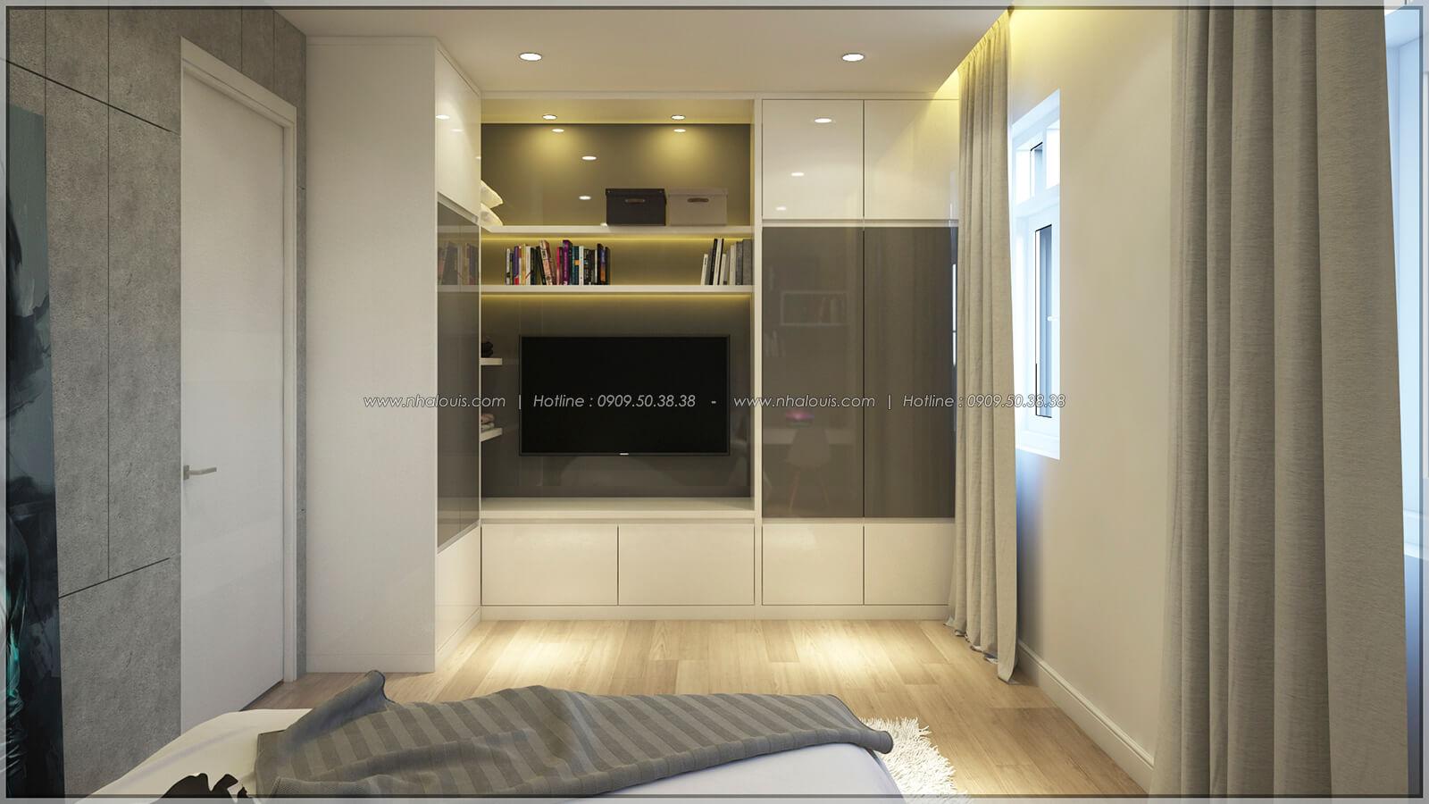 Phòng ngủ Thiết kế nhà phố kiểu Pháp với mặt tiền 6m hoành tráng tại Bình Tân - 24