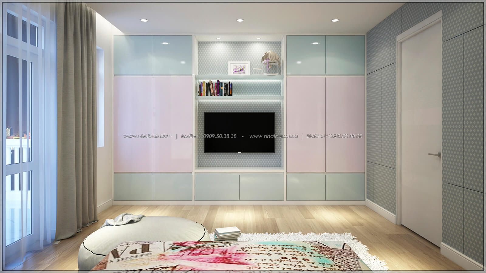 Phòng ngủ Thiết kế nhà phố kiểu Pháp với mặt tiền 6m hoành tráng tại Bình Tân - 25