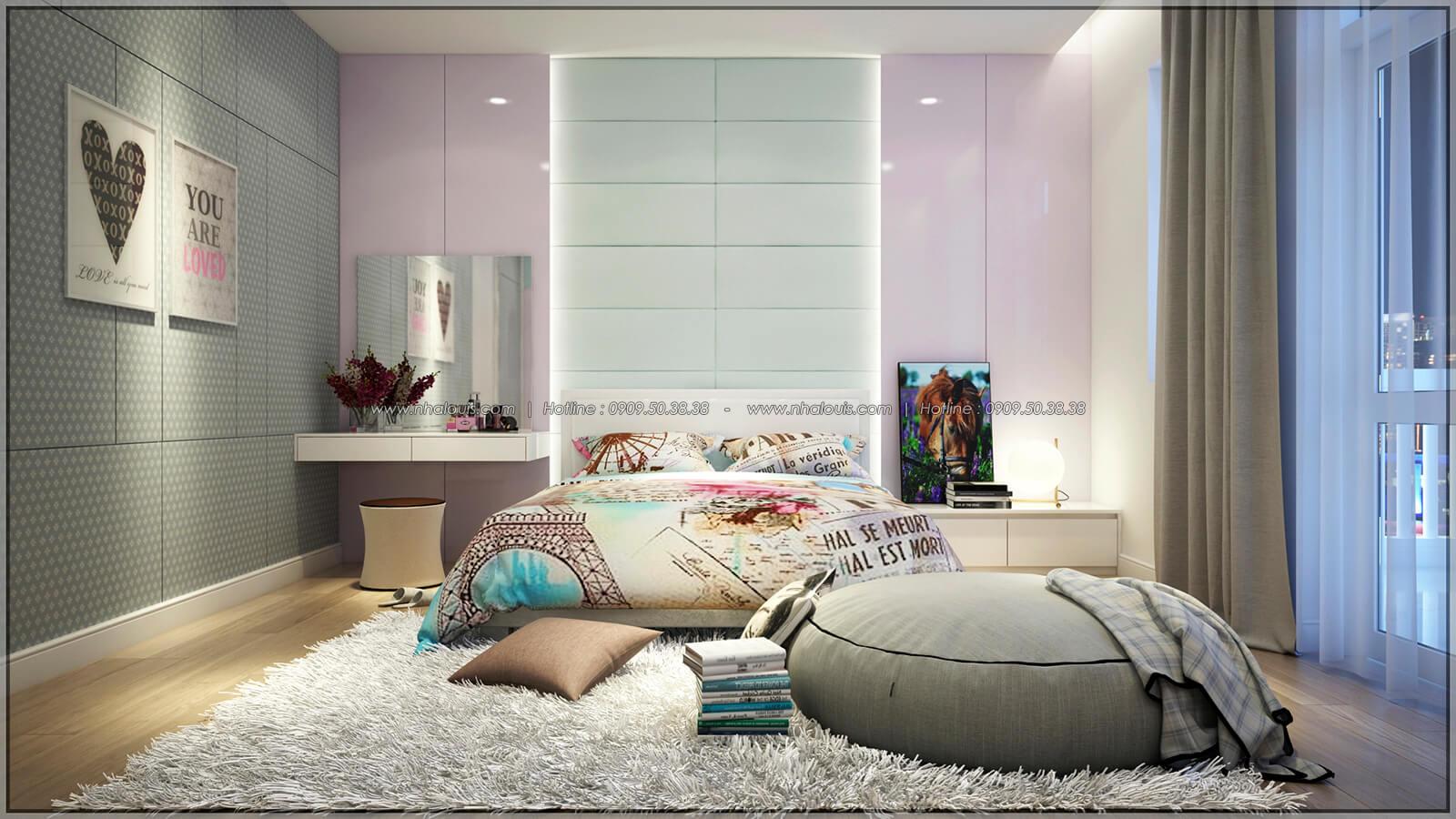 Phòng ngủ Thiết kế nhà phố kiểu Pháp với mặt tiền 6m hoành tráng tại Bình Tân - 27
