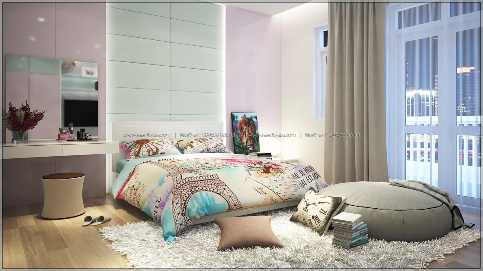 Phòng ngủ Thiết kế nhà phố kiểu Pháp với mặt tiền 6m hoành tráng tại Bình Tân - 28
