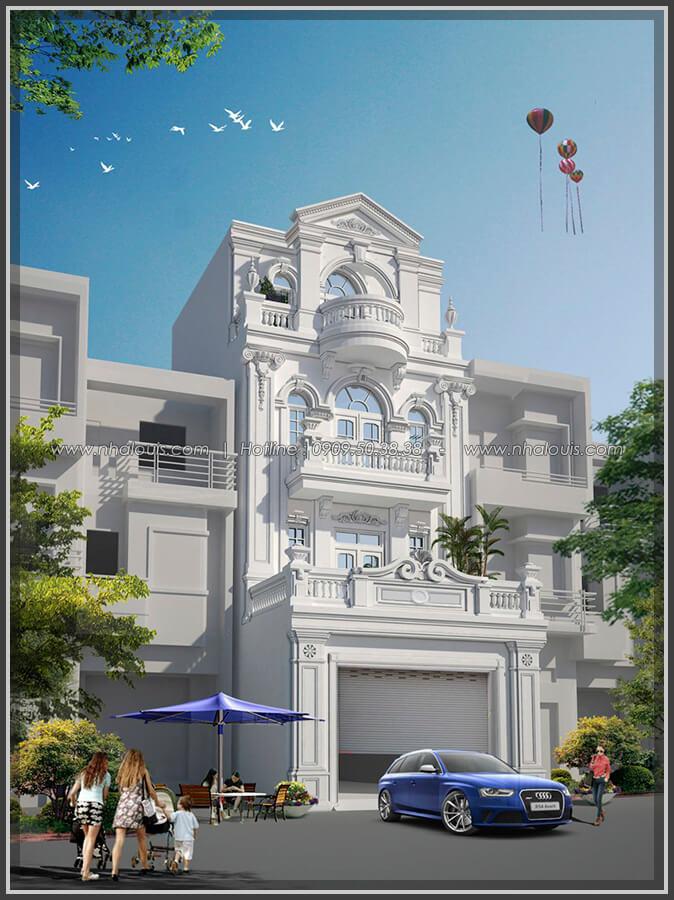 Mặt tiền Thiết kế nhà phố kiểu Pháp với mặt tiền 6m hoành tráng tại Bình Tân - 2