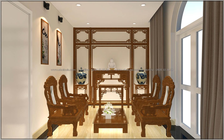 Phòng thờ Thiết kế nhà phố kiểu Pháp với mặt tiền 6m hoành tráng tại Bình Tân - 34