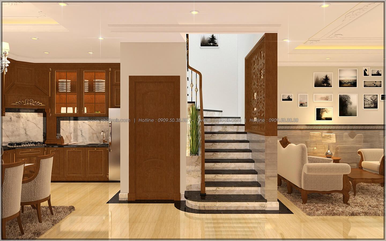 Phòng khách Thiết kế nhà phố kiểu Pháp với mặt tiền 6m hoành tráng tại Bình Tân - 8