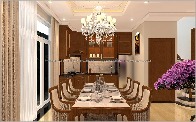 Phòng bếp và phòng ăn Thiết kế nhà phố kiểu Pháp với mặt tiền 6m hoành tráng tại Bình Tân - 9