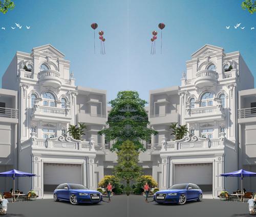 Thiết kế nhà phố kiểu Pháp với mặt tiền 6m hoành tráng tại Bình Tân