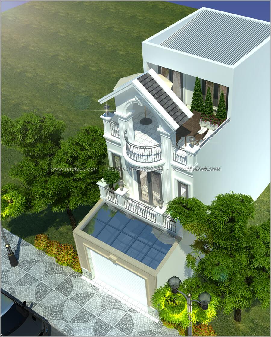 Mặt tiền Thiết kế nhà tân cổ điển 2 tầng đẹp ngỡ ngàng tại Bình Dương - 02