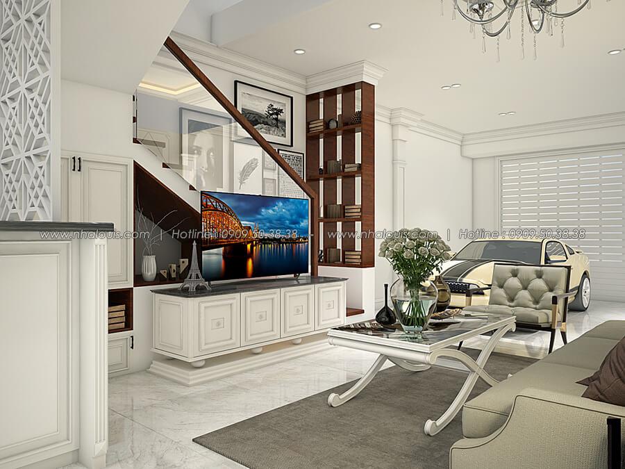 Phòng khách Thiết kế nhà tân cổ điển 2 tầng đẹp ngỡ ngàng tại Bình Dương - 06