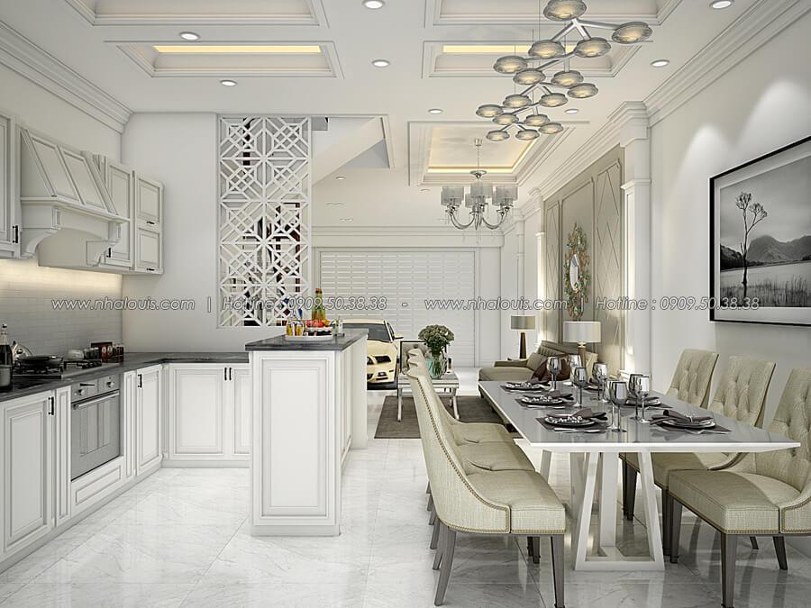 Phòng bếp và phòng ăn Thiết kế nhà tân cổ điển 2 tầng đẹp ngỡ ngàng tại Bình Dương - 07