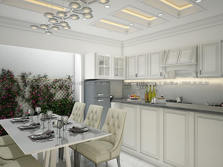 Phòng bếp và phòng ăn Thiết kế nhà tân cổ điển 2 tầng đẹp ngỡ ngàng tại Bình Dương - 08