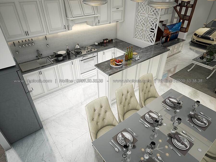 Phòng bếp và phòng ăn Thiết kế nhà tân cổ điển 2 tầng đẹp ngỡ ngàng tại Bình Dương - 09