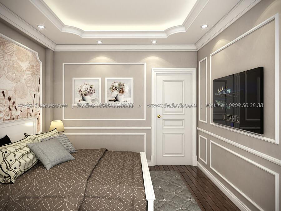 Phòng ngủ Thiết kế nhà tân cổ điển 2 tầng đẹp ngỡ ngàng tại Bình Dương - 11
