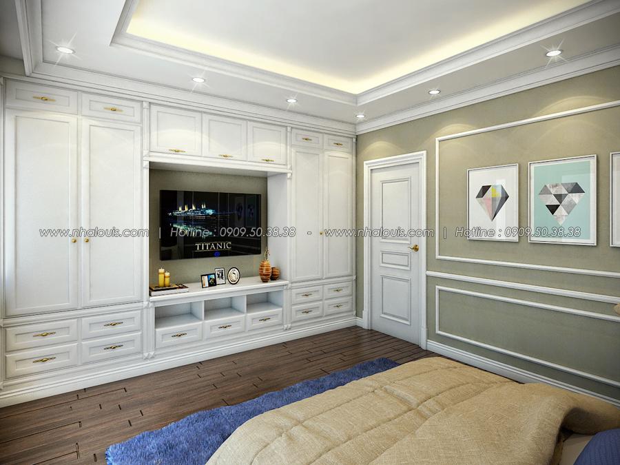 Phòng ngủ Thiết kế nhà tân cổ điển 2 tầng đẹp ngỡ ngàng tại Bình Dương