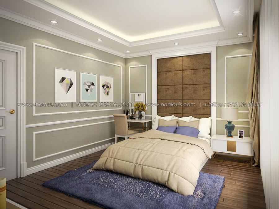 Phòng ngủ Thiết kế nhà tân cổ điển 2 tầng đẹp ngỡ ngàng tại Bình Dương - 15