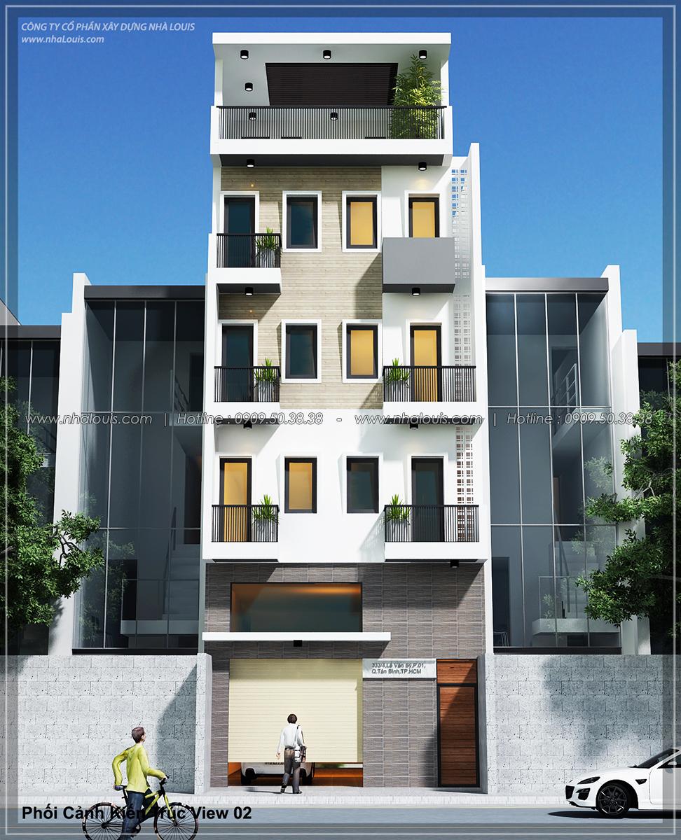 Mặt tiền Thiết kế nhà trọ cho thuê cao cấp tiết kiệm chi phí và hiệu quả tại Tân Bình - 02