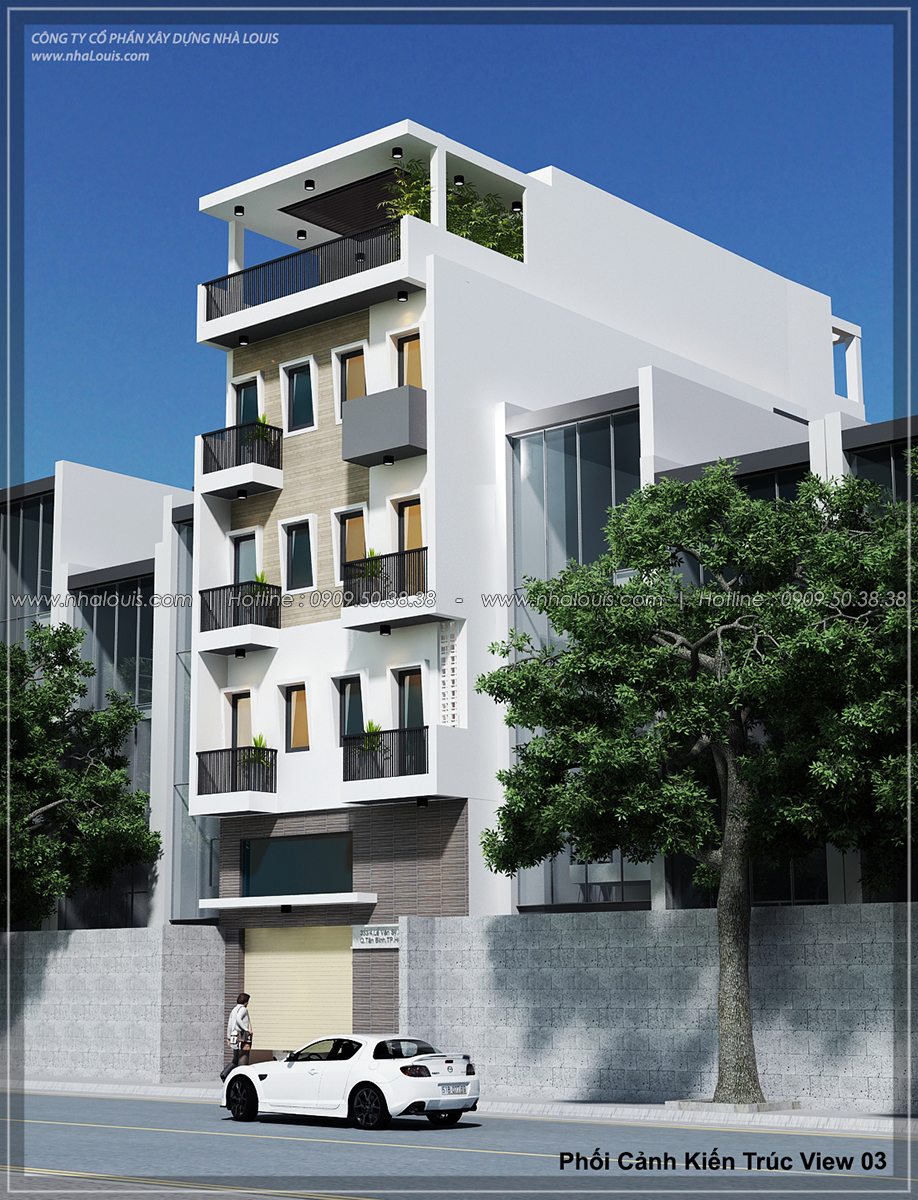 Mặt tiền Thiết kế nhà trọ cho thuê cao cấp tiết kiệm chi phí và hiệu quả tại Tân Bình - 03