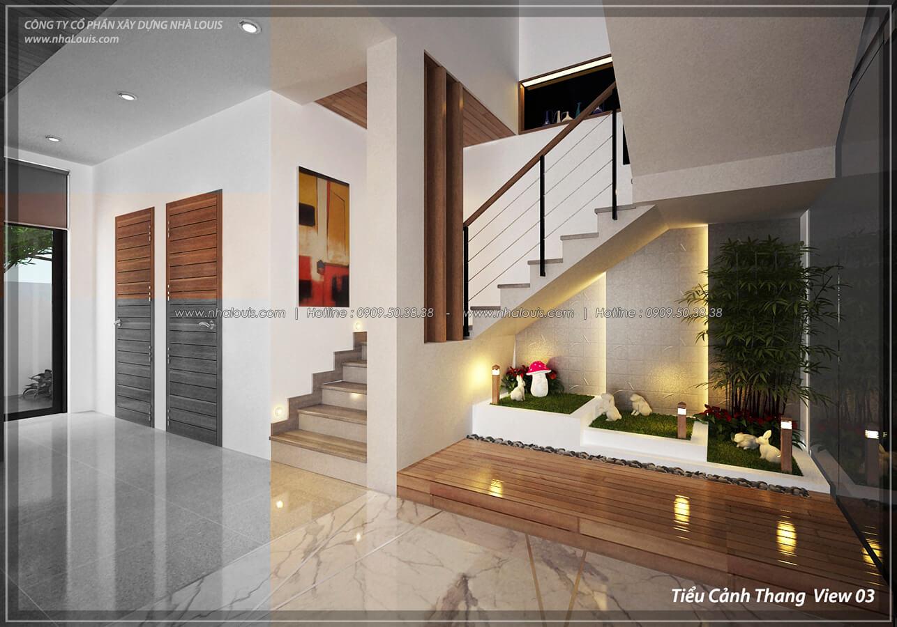 Tiểu cảnh cầu thang Thiết kế nội thất biệt thự cao cấp Lucasta Villa 5 sao tại Quận 9 - 10