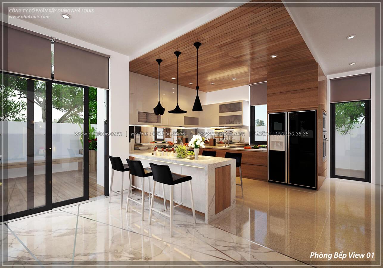 Phòng bếp và phòng ăn Thiết kế nội thất biệt thự cao cấp Lucasta Villa 5 sao tại Quận 9 - 11