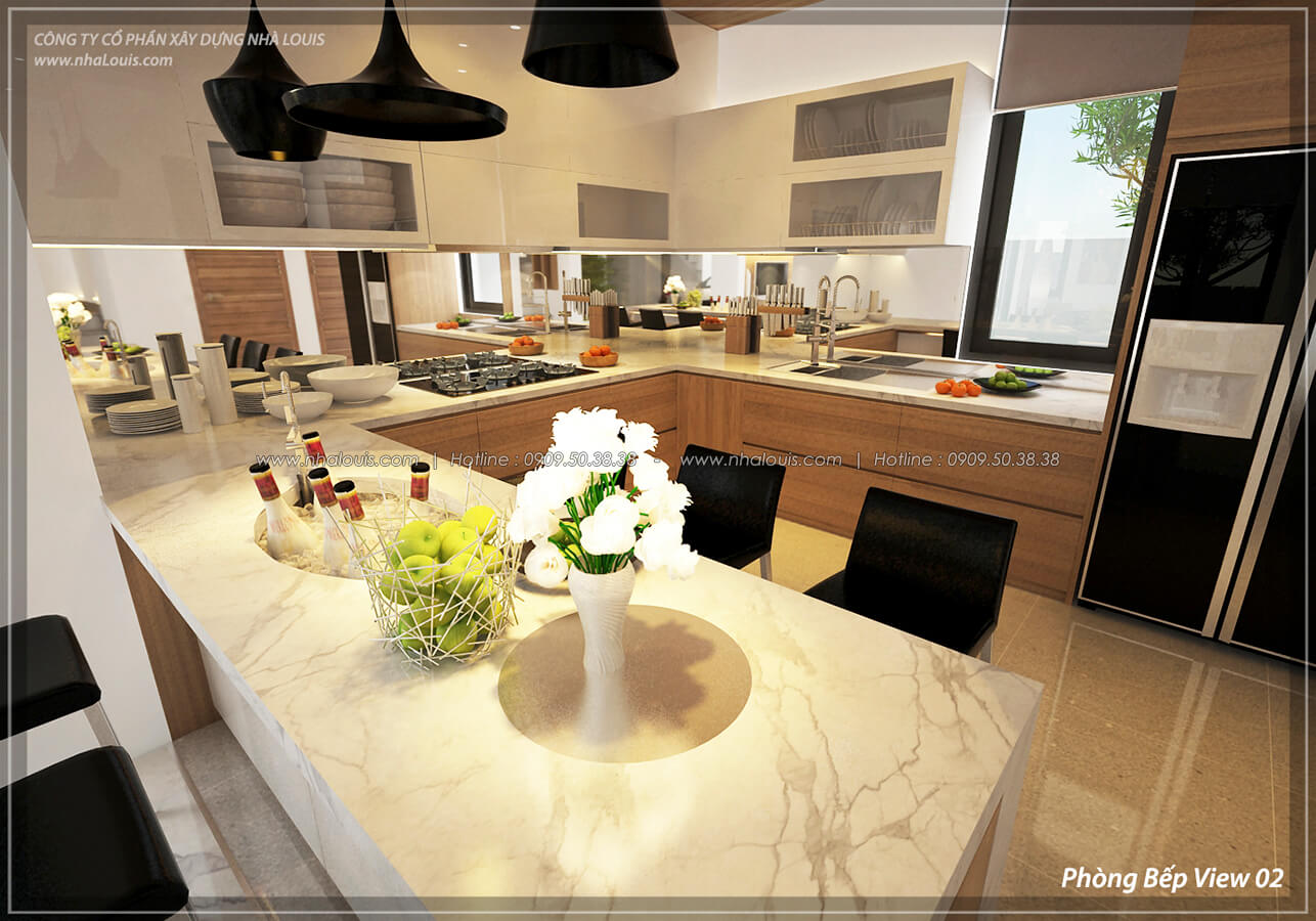 Phòng bếp và phòng ăn Thiết kế nội thất biệt thự cao cấp Lucasta Villa 5 sao tại Quận 9 - 12
