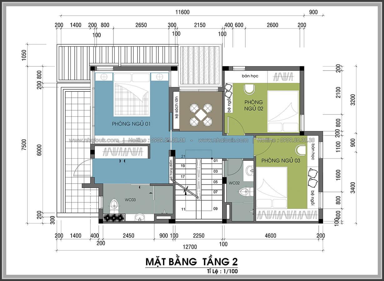 Mặt bằng tầng 2 Thiết kế nội thất biệt thự cao cấp Lucasta Villa 5 sao tại Quận 9 - 15