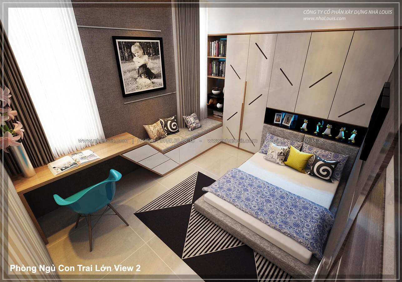 Phòng ngủ con trai Thiết kế nội thất biệt thự cao cấp Lucasta Villa 5 sao tại Quận 9 - 28