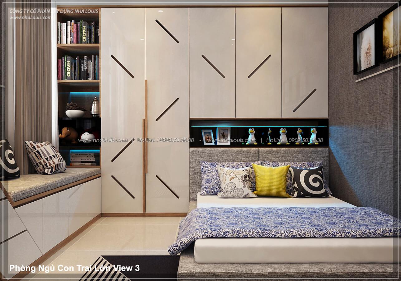 Phòng ngủ con trai Thiết kế nội thất biệt thự cao cấp Lucasta Villa 5 sao tại Quận 9 - 29