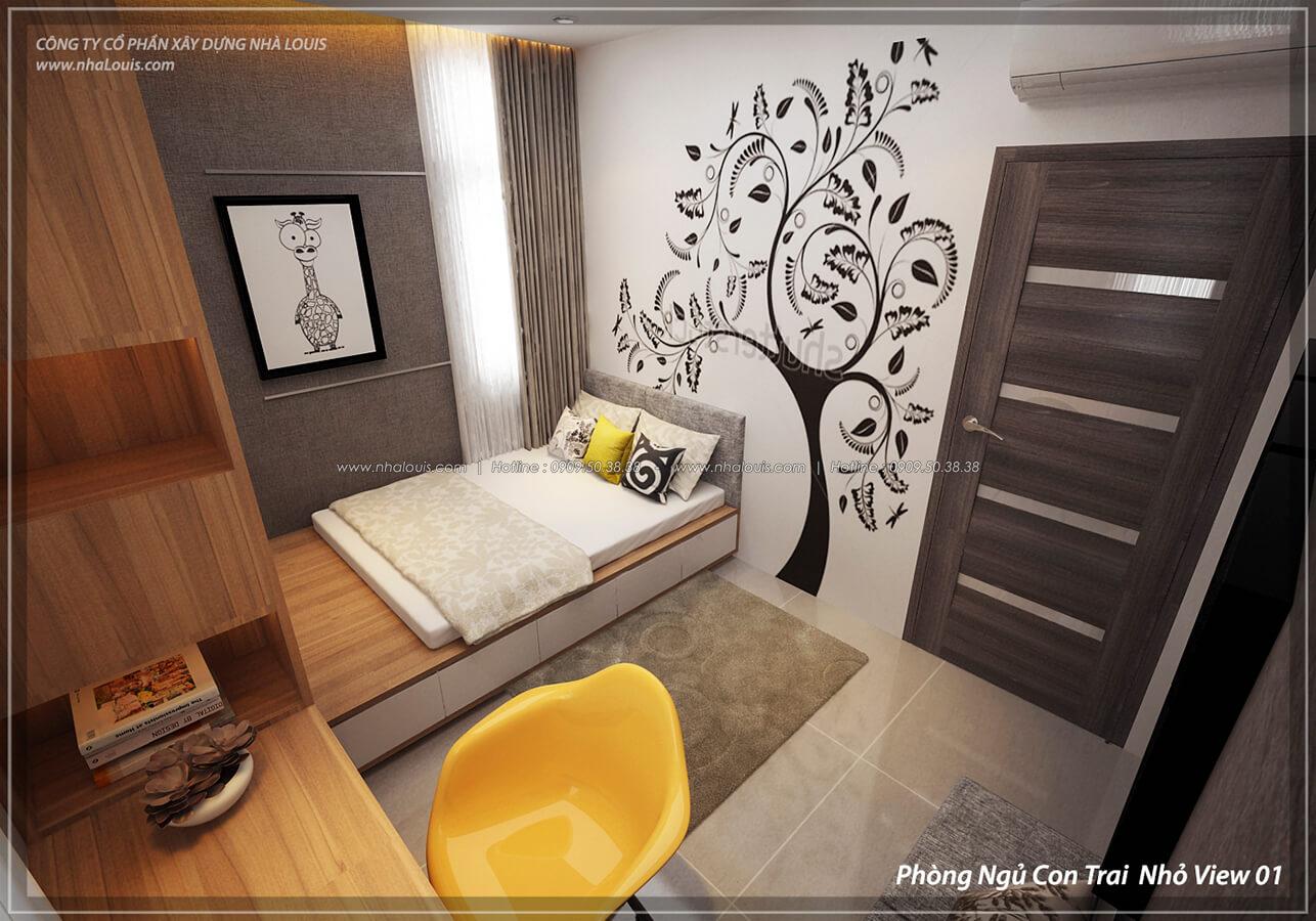 Phòng ngủ con trai Thiết kế nội thất biệt thự cao cấp Lucasta Villa 5 sao tại Quận 9 - 31