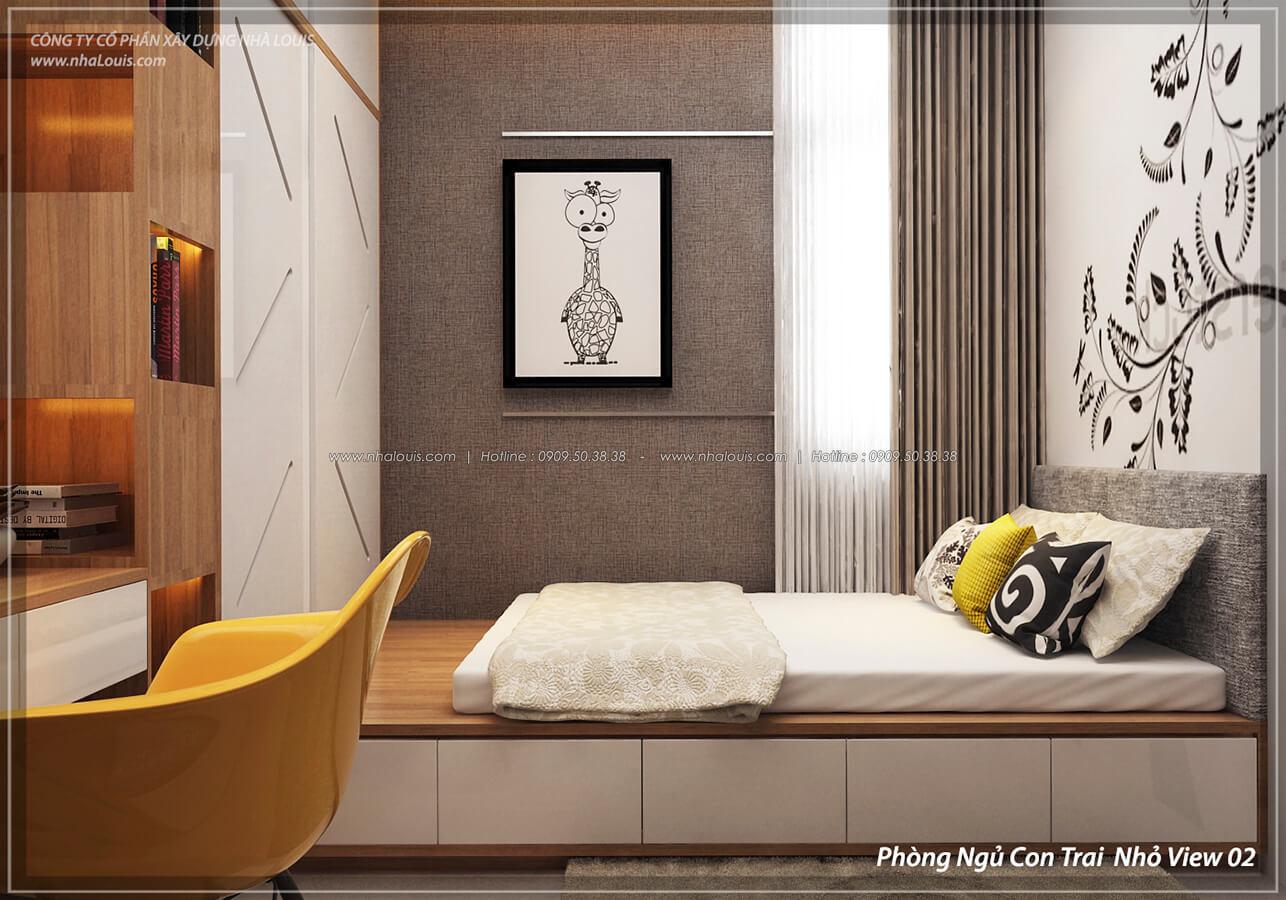 Phòng ngủ con trai Thiết kế nội thất biệt thự cao cấp Lucasta Villa 5 sao tại Quận 9 - 32
