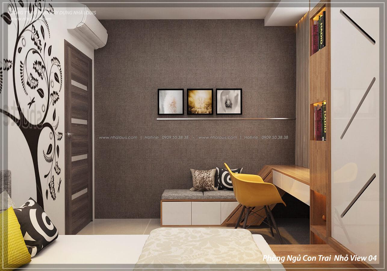 Phòng ngủ con trai Thiết kế nội thất biệt thự cao cấp Lucasta Villa 5 sao tại Quận 9 - 34