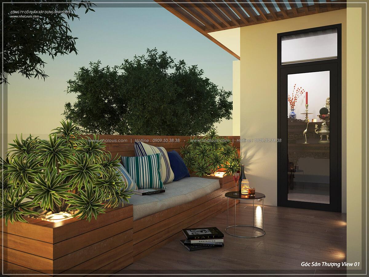 sân thượng Thiết kế nội thất biệt thự cao cấp Lucasta Villa 5 sao tại Quận 9 - 40