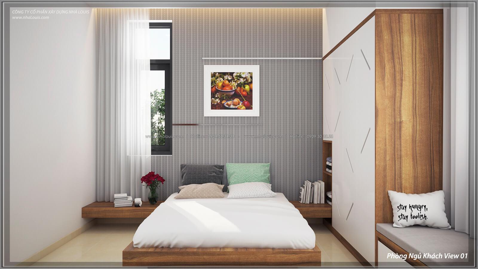 Phòng ngủ cho khách Thiết kế nội thất biệt thự cao cấp Lucasta Villa 5 sao tại Quận 9 - 43