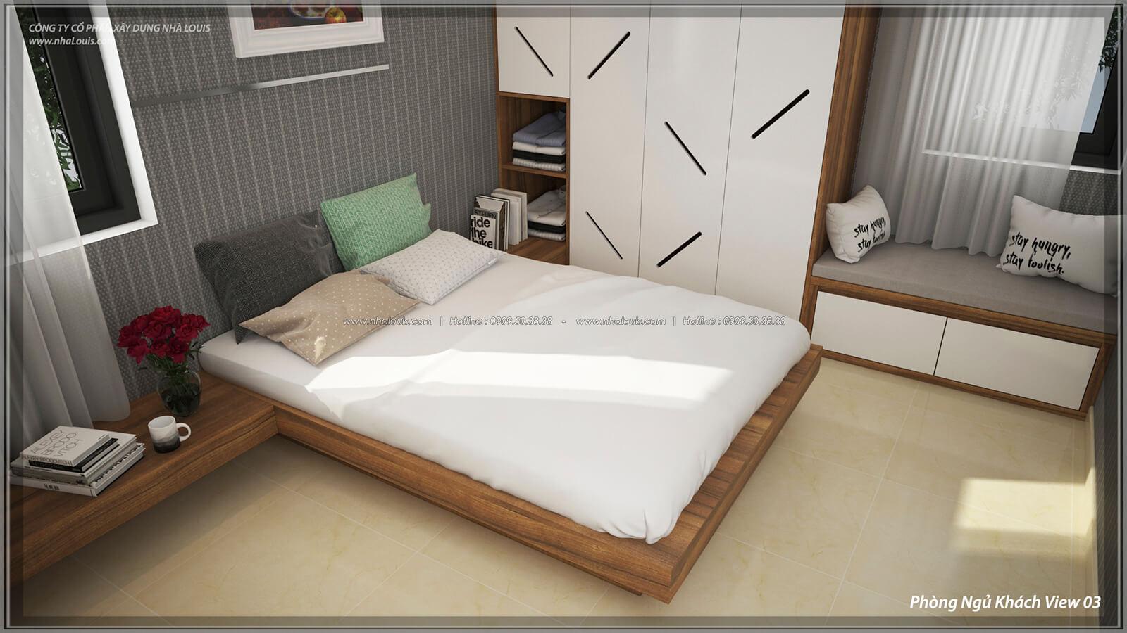 Phòng ngủ cho khách Thiết kế nội thất biệt thự cao cấp Lucasta Villa 5 sao tại Quận 9 - 45