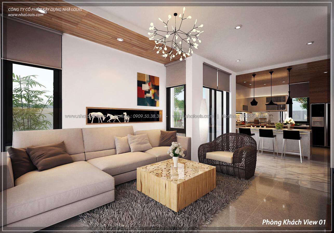 Phòng khách Thiết kế nội thất biệt thự cao cấp Lucasta Villa 5 sao tại Quận 9 - 5