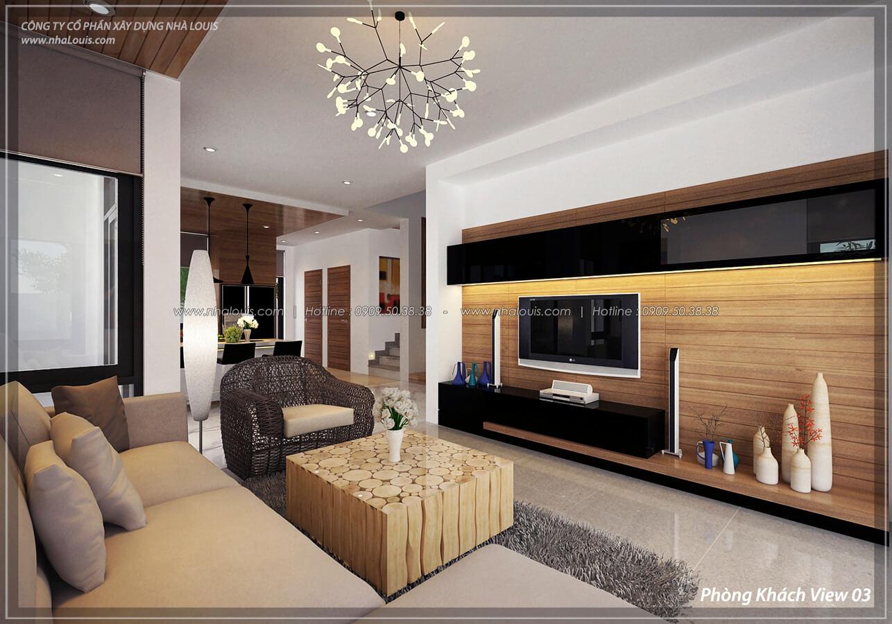 Phòng khách Thiết kế nội thất biệt thự cao cấp Lucasta Villa 5 sao tại Quận 9 - 7