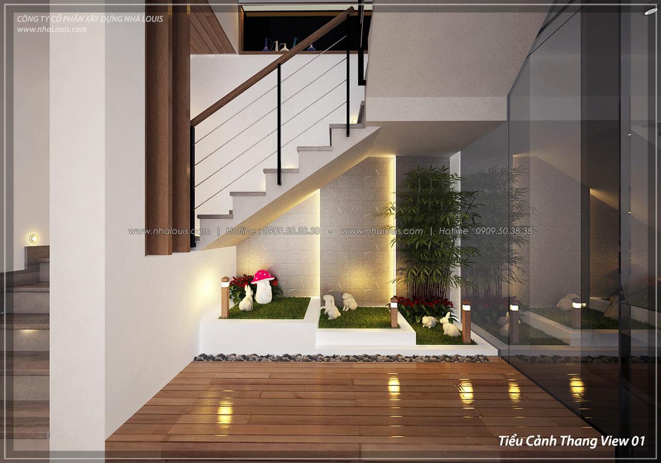Tiểu cảnh cầu thang Thiết kế nội thất biệt thự cao cấp Lucasta Villa 5 sao tại Quận 9 - 8