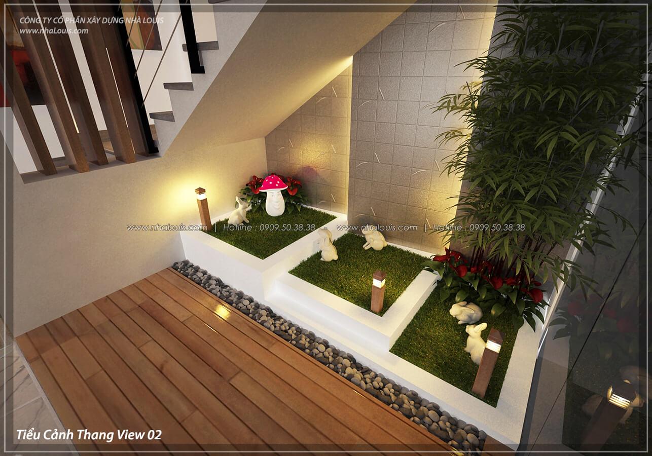 Tiểu cảnh cầu thang Thiết kế nội thất biệt thự cao cấp Lucasta Villa 5 sao tại Quận 9 - 9