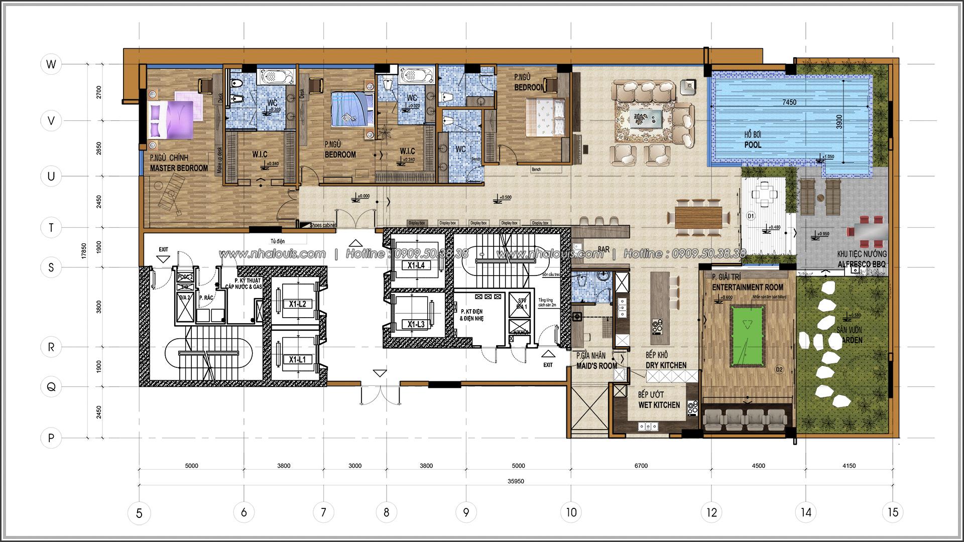 Thiết kế nội thất chung cư hiện đại tại dự án căn hộ cao cấp Sunrise City - 01